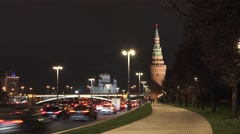 Moscow Night Timelapse Stock Footage