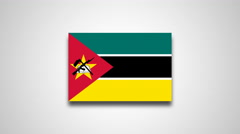 4K - Mozambique country flag Stock Footage