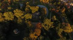 Amsterdam Vondelpark, aerial Stock Footage