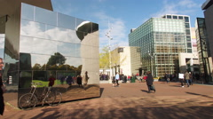 Van Gogh museum Amsterdam, time lapse Stock Footage