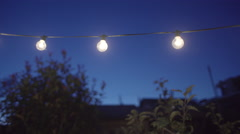 Outdoor string lights Stock Footage