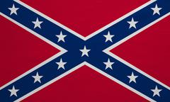 Confederate rebel flag, detailed fabric texture Stock Photos