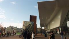 Stedelijk Museum and Concertgebouw, Amsterdam Stock Footage