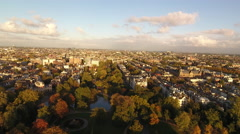 View over Amsterdam, aerial Stock Footage