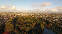 Amsterdam aerial in golden light Stock Footage