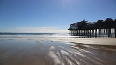 Old Orchard Beach Pier, Maine (USA) Stock Footage