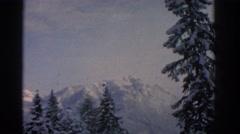 1963: beautiful snowy mountains MUNICH GERMANY Stock Footage