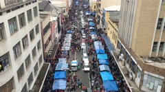 Crowed streets along 25 de Marco in Sao Paulo, Brazil. Stock Footage
