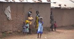 Ghanaian  people looking in Zabzugu village Stock Footage