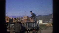 1963: taking a break from work ZURICH SWITZERLAND Stock Footage