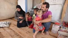 Syria, - February, 2016: Emigrants, SDF,ISIS war, SDF – YPJ,YPG Arkistovideo