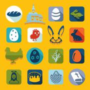 Set of easter icons Stock Illustration