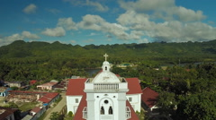 The Catholic Church in the Philippine. Anda. Poblacion city Stock Footage