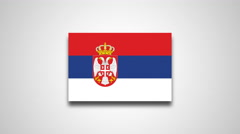 4K - Serbia country flag Stock Footage