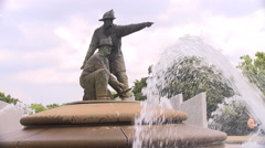Kc fire fighter fountain 4k  Stock Footage