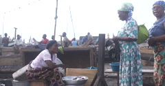 Ghanian womens shopping Stock Footage