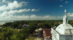 Tower of the Catholic Church. Anda. Pablacion. Bohol island Stock Footage