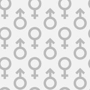 Seamless pattern of male and female gender symbols Stock Illustration