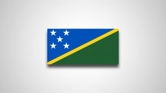4K - Solomon Islands country flag Stock Footage