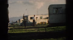 1962: man playing horseshoes. EPHESUS TURKEY Stock Footage