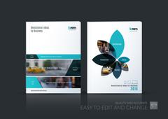 Brochure template layout collection, cover design annual report Stock Illustration