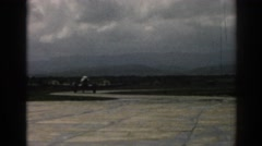 1962: military plane taxis along at an air force base, preparing for take off. Stock Footage