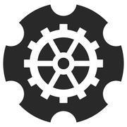 Gearwheel Vector Eps Icon Stock Illustration