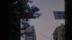1962: banners wave in izmir, welcoming an american statesman IZMIR TURKEY Stock Footage