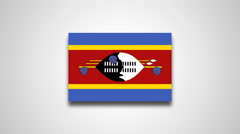 4K - Swaziland country flag Stock Footage