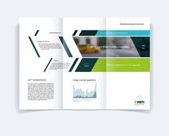 Tri-fold Brochure template layout, cover design, flyer in A4 wit Stock Illustration