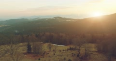 Mountain landscape at sunset. 4k, 25fps Stock Footage