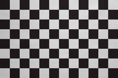 Checkered racing flag real detailed fabric texture Stock Photos