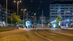 Busy intersection in Gothenburg, Sweden Stock Footage