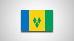 4K - Saint Vincent and the Grenadines country flag Stock Footage