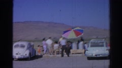 1962: a group of people enjoying the scenery in a tourist spot IZMIR TURKEY Stock Footage