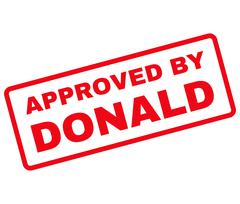 Approved by Donald Rubber Stamp Vector Stock Illustration