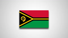 4K - Vanuatu country flag Stock Footage