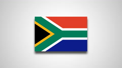 4K - South Africa country flag Stock Footage