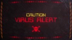 Virus Alert Warning Signaling on an Old Monitor Stock Footage