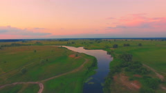 River panorama. 4k 30fps Stock Footage