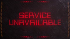 Service Unavailable Warning Alert Signaling on an Old Monitor Stock Footage