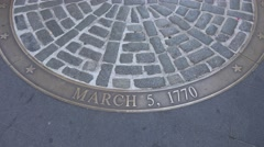 The Boston Massacre site outside the Old State House, Boston, MA. Stock Footage