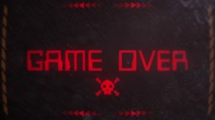 Game Over Signaling on an Old Monitor Stock Footage
