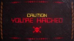 Hacking Warning Alert Signaling on an Old Monitor Stock Footage