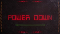 Power Down Warning Alert Signaling on an Old Monitor Stock Footage