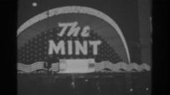 1962: flashing light signs in sin city. LAS VEGAS Stock Footage