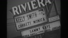 1962: a sign breathing fire. LAS VEGAS Stock Footage