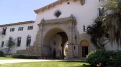 Santa barbara county courthouse 4k Stock Footage