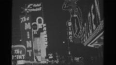 1962: signs within the city lights. LAS VEGAS Stock Footage