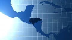 Honduras. Zooming into Honduras on the globe. Stock Footage
